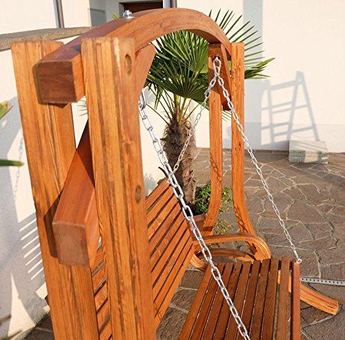 Design Hollywoodschaukel Gartenschaukel Hollywood Schaukel KUREDO-OD aus Holz Lärche von AS-S - 9