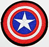 patch by xyz21 Marvel Comics 7 x 7 cm, Captain America Crew Uniform Kostüm gesticktes Bügeleisen oder mit Patch