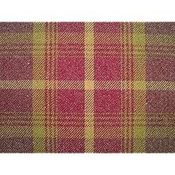 1Metre Balmoral Amatista lana efecto lavable a DE grosor diseño DE tela escocesa tapicería y cortina funda de tela