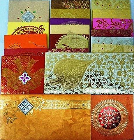 Lightahead® FANCY GIFT ENVELOPE CARD MONEY HOLDER PACKET FOR WEDDING