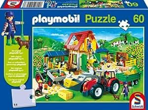 Schmidt - 55458 - Puzzle - Playmobil - Ferme - 60 Pièces