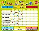Récompense magnétique / Star / Tableau des responsabilités / de comportement pour jusqu'à 3 enfants. Planche rigide de 16 'x 13' (40 x 32cm) avec boucle de suspension