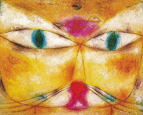 1art1 67729 Paul Klee - Katze Und Vogel, 1928 Poster Kunstdruck 50 x 40 cm