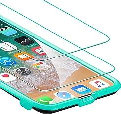 ESR [2 Stück iPhone XS/X Panzerglas Schutzfolie [mit Installation-Toolkit], iPhone XS/X Displayschutzfolie 9H Härte 5-Mal Verbesserte Gehärtetes Glas für [Face ID][3D Touch][5.8 Zoll], 2 Stück