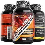 Anabol Amp V2 180 Kapseln - Natürliche Inhaltstoffe - 6 aktive Wirkstoffe - 30 Tage Support - Muskelaufbau & Fitness - German Elite Nutrition