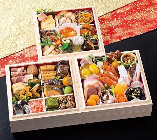 京都 祇おん 江口 監修 おせち料理 2017 祝 三段重 盛り付け済み 冷蔵おせち お届け日:12月31日