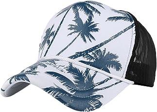Baseball Cap, Tianya Frauen Herren Coconut Tree drucken Baseball-Kappen Mesh Verbindung Hip Hop Summer Sun Hat