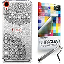 CASEiLIKE Arte de la mandala 2093 Bumper Prima Híbrido Duro Protección Case Cover Funda Cascara for HTC Desire 820 +Protector de Pantalla +Plumas Stylus retráctil (Color al azar)