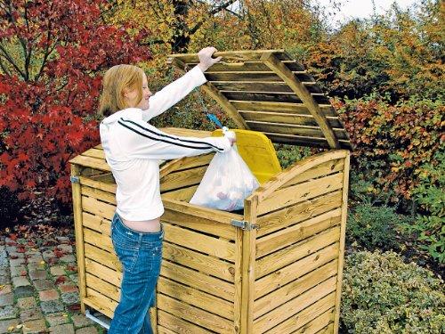Mülltonnen-Box Mülltonnenverkleidung für 2 Tonnen inkl. Rückwand - 2