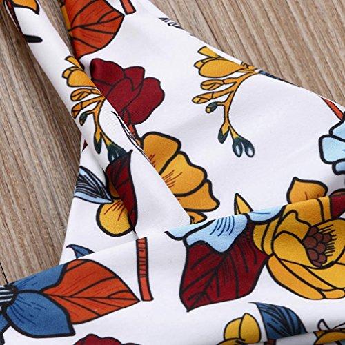 Maillot de Bain Femme 1 Pieces ❤️ Femmes Bikini Ensemble Imprimé Haute Taille Maillot Maillots de Bain white