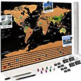 Scratch map persönliche XXL Weltkarte zum Freirubbeln - 60*80cm - Rubbeln, Einzeichnen, Wegwischen & Fotos anpinnen