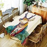QWEASDZX Mantel de poliéster de Dibujos Animados Mantel Resistente a Las Manchas Adecuado para el Interior y el Exterior Mantel Rectangular Mantel de Picnic 140 x 180 cm