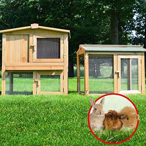 Stall 1 PL Kaninchenstall Hasenstall Kaninchenkäfig Hasenkäfig Meerschweinchenstall - 2