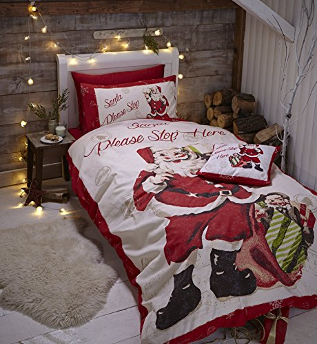 Catherine Lansfield Retro Santa Easy Care King Duvet Set Multi