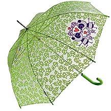 Paraguas Kukuxumusu transparente pajaritos