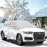 isimsus Copertura Parabrezza Auto, Copri Parabrezza e Specchi Anti-ghiaccio Protegge dal Gelo e Neve, Protegge dal Ghiaccio, Sole, Adatto per la Maggior Parte dei Veicoli, SUV (245 * 140 CM)