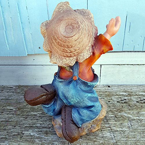Roly-Rock-Garden-Gnome-Polyresin-Handmade-Unique-Garden-Decoration-Statue-1-Foot-Tall
