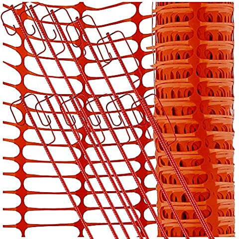 uvv Juego de Reflex 50m HR Gruppe Naranja, 10Barrera cuerda Soporte Rojo Válvula de malla de red,, diseño Valla rollo plástico especialmente Arroz fijo, 120gr (6,0kg)