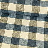 Tessuti werning tessuto decorativo quadri blu grigio Canva plastica-Prezzo si intende per 0,5meter