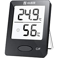 Habor Thermo-Hygrometer, Luftfeuchtigkeitsmessgerät Innen Digitales Thermometer Hygrometer Innen Hydrometer Feuchtigkeit…