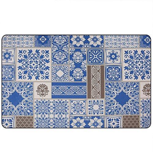 ZHEN GUO Blue Area Teppich Rechteckige Teppich Classic Checkered Große Bodenmatte Maschine waschbare Decke für Wohnzimmer Schlafzimmer Couchtisch ( größe : 190*280cm ) (Teppiche 8 X 10 Abstand)