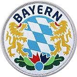 2 x Bayern Abzeichen gewebt 60 mm / Bavaria München bayerisch Land Alpen Berge Outdoor Wandern Heimat Reisen / Aufnäher Aufbügler Flicken Sticker Bügelbild Patch Wappen Emplem zum aufbügeln aufnähen