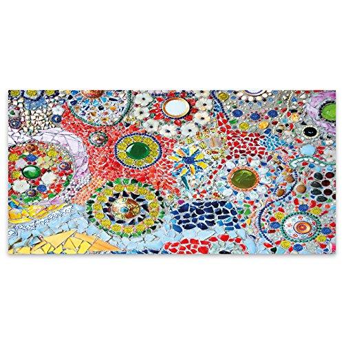 Coloured Mosaic Glass Texture Acrylic Glass Wall Art -120cm x 60cm