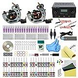 komplett tattoo set 2 Tattoomaschine Dual Power Supply 20 Tattoo Nadeln 40 Farbtinten Anfänger-Tattoo-Kit (TK1000033)