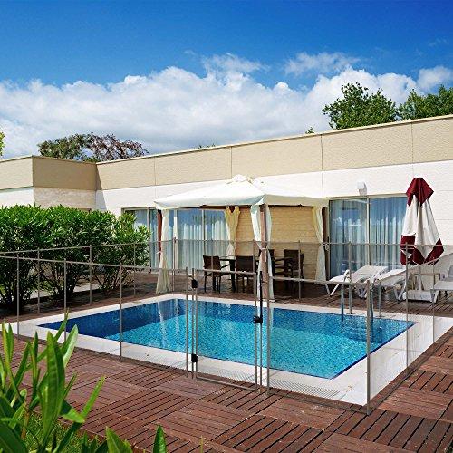 Barrière de sécurité pour piscine TRAMO 2 METROS Sable (filet et poteaux)