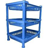 marts shopping Premium 3 Layers Plastic Kitchen Storage Organizer Rack Basket for Kitchen Items Like Onion, Potato, Vegetable