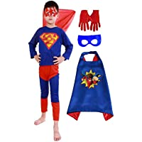 FDF Super hero Fancy Dress Costumes with cape and gloves for kids(Plz see the size in dropdown