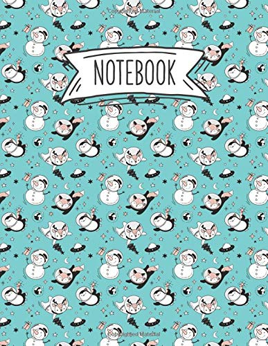 n Book for Writing or Journaling - Penguin Fox And Reindeer In Mint (Space Themed Notebooks, Band 5) ()