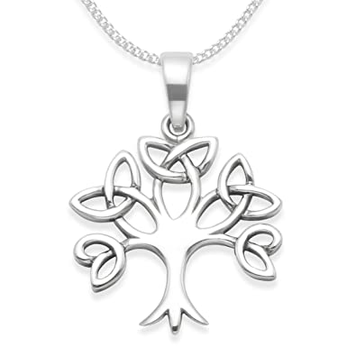 Sterling silver celtic tree of life necklace on silver chain tree sterling silver celtic tree of life necklace on silver chain tree of life pendant celtic pendant size 19mm x 18mm 8099 gift boxed mozeypictures Images