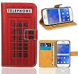 FoneExpert® Samsung Galaxy Ace 4 G357 G357FZ Handy Tasche, Wallet Case Flip Cover Hüllen Etui Ledertasche Lederhülle Premium Schutzhülle für Samsung Galaxy Ace 4 G357 G357FZ