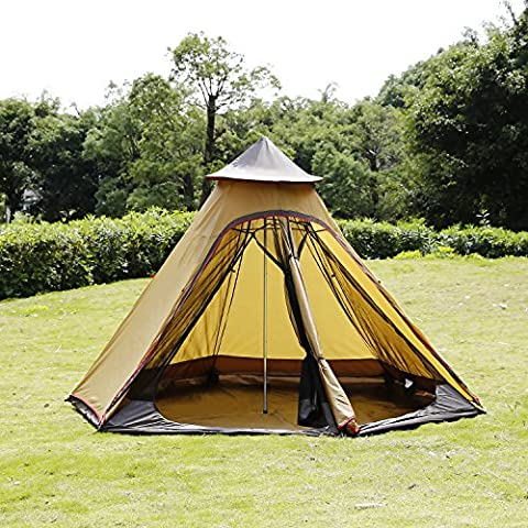 befied Waterproof Oxford Pyramid Tent for 6–8People Tent with Stitched Sheet of Earth For Camping Wind