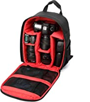 Uspech Shoulder Backpack to Carry DSLR SLR Lens Camera Bag  (Red, Black)