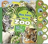 Soundbuch Was hörst du im Zoo?: Mit 10 Tiergeräuschen