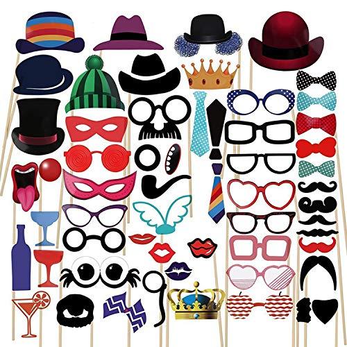 Photo Booth Props Schnurrbart Maske Bogen Lippen Hut Auf Stick Party Geburtstag Hochzeit ()