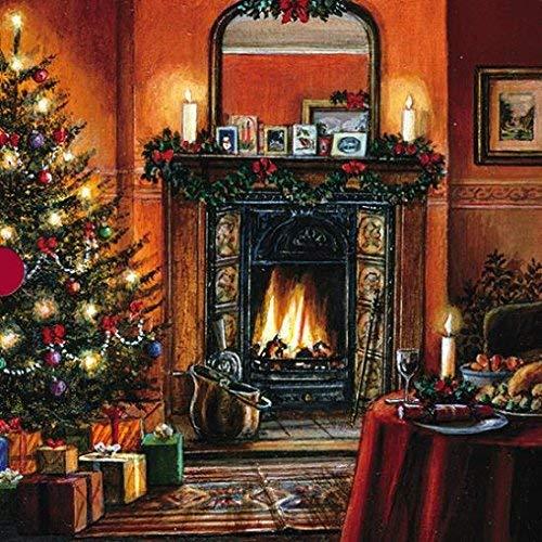 Luxus Fine Art Weihnachten Karten (med8032)-The Christmas Tree-Box von 16Karten-2Designs