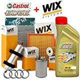 Kit tagliando 4 FILTRI Wix + 5Lt olio Castrol Edge 5W30 (WL7296, WF8308, WF8388, WA6781, V3683)