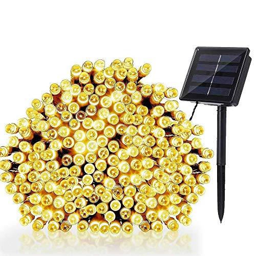 NEXVIN Guirnalda Luces Exterior Solar, Luces Navidad 22M 200 LED, Cadena de Luces Solares Blanco Calido, Luces LED Decorativas Impermeable para Decorar Arbol, Patio, Jardín, Terraza, Boda