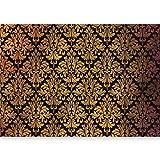 murando - Vlies Fototapete 500x280 cm - Vlies Tapete - Moderne Wanddeko - Design Tapete - Leder Diamant modern gold Ornament Barock f-A-0470-a-a