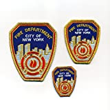 3 Fire Department New York FDNY USA Embleme Patches Aufbügler Aufnäher Set 0971