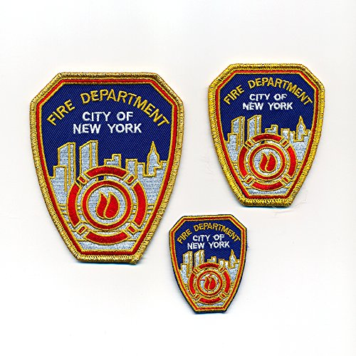 3 Fire Department New York FDNY USA Embleme Patches Aufbügler Aufnäher Set 0971