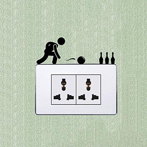ort Cartoon Lichtschalter Aufkleber Wand Aufkleber 5 WS 0903 (Halloween Bowling)