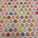 Stoff Meterware Baumwolle Lampion bunt beschichtet Japan Tischdecke abwaschbar