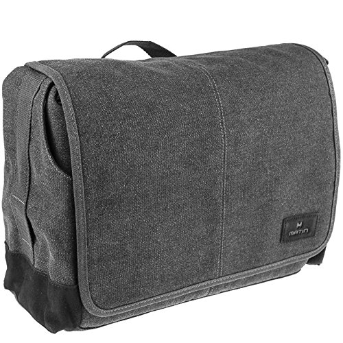 Matin Balade Bag 400 Canvas-Fototasche für kleine bis große DSLR-Kameras - mit Fach für 13 Zoll Notebook (Schwarz)