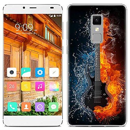 Yrlehoo Für Elephone S3, Premium Softe Silikon Schutzhülle für Elephone S3 Tasche Case Cover Hülle Etui Schutz Protect, Gitarre