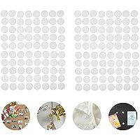 O-Kinee Scratch Autocollant Rond, 600 Paires 10mm Adhésif Rond, 1200 Capsules Cercles avec Crochets et Boucles Auto…