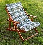 POLTRONA SEDIA SDRAIO HARMONY RELAX (VERDE) in legno pieghevole cuscino imbottito soggiorno cucina giardino salone divano immagine